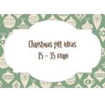 Weihnachtsgeschenktipps von 15 bis 35 Euro