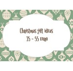 Christmas gift ideas from 35 to 55 euro