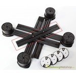 Meubelverhogers van Langham Sure Grip 3,8 tot 10 cm - set van 4