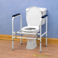 Cadre de toilette universel et réglable