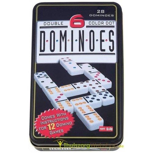 Domino agrandi avec des couleurs