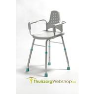 Douche- en werkstoel met arm- en rugleuning