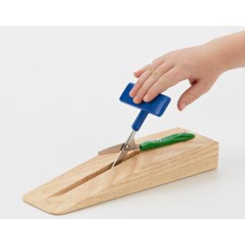 Ciseaux de table Easi-Grip®, sur pied en bois