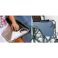 Demi tablette pour chaise roulante