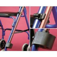Fixation de canne / béquille pour chaise roulante ou aide à la marche