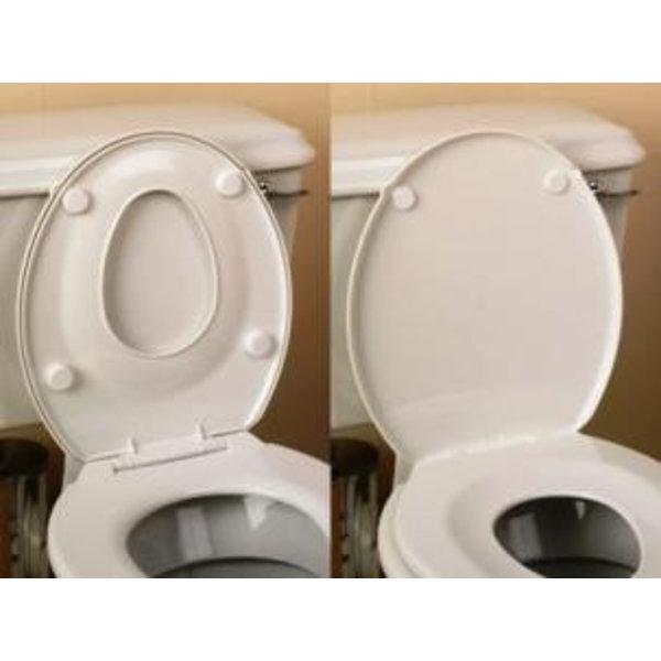 Toiletbrilverkleiner, combinatie met standaardbril en deksel