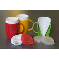 Insulating cup funnel shape with 1 handle