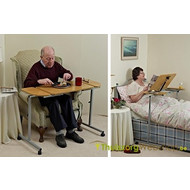 Table de lit pour un lit d'une personne ou un fauteuil