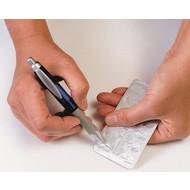 Pillenverwijderaar in de vorm van een pen