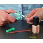 Mini schaartje zelfopenend Easi-Grip® met scherpe punt 30 mm -  lichtgroen