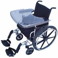 Tablette transparente pour chaise roulante
