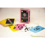 Speelkaarten met grote opdruk en kleurcode