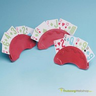 Support de cartes de jeu – demi-rond