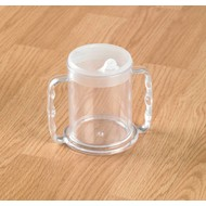 Gobelet transparent avec 2 poignées
