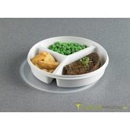 Assiette avec 3 compartiments + couvercle