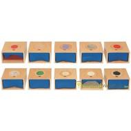 Boîtes tactiles pour une perception par main et pied