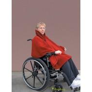 Warme cape voor rolstoelgebruik