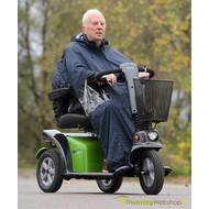 Volledige regenponcho voor scooter of elektrische rolstoel