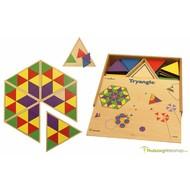 Jeu de pose avec triangles colorés