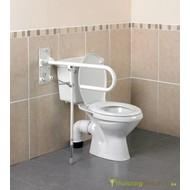 Opklapbare toiletbeugel met vloersteun
