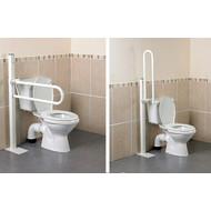 Opklapbare toiletbeugel met vloerbevestiging