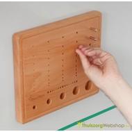 WorkPark toebehoren: houten pennenbord met metalen pennen en magneten onderaan