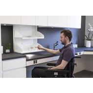 Châssis de cuisine Verti-Inside Electric pour les armoires du haut, sécurité inclus