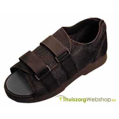 Zwarte nylon post-operatieve schoen