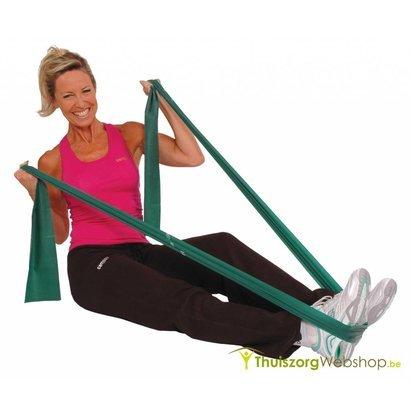 Krachttraining met gewichten, manchetten en elastische banden