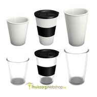 Cup with lid and anti-slip ring in option
