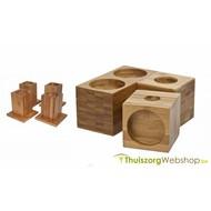 Rehausseurs de meuble en bambou 7,5- 13,5 cm