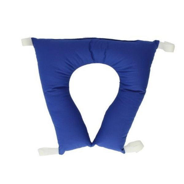 Cushion for toilet chair in horseshoe shape