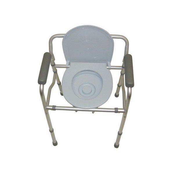 Opvouwbare toiletstoel/toiletkader met zitting