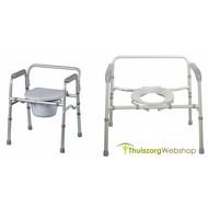 Chaise percée/cadre de toilette avec lunette pliable Days