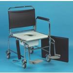 Chaise percée de toilette sur roues en acier Days