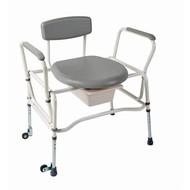 Chaise percée XL avec 2 roulettes