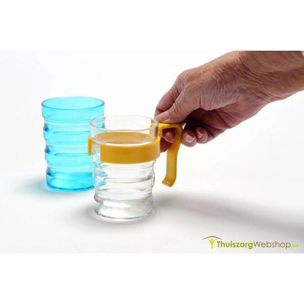 Gobelet à  rainures avec 2 becs verseurs 200 ml - Disponible en 2 couleurs