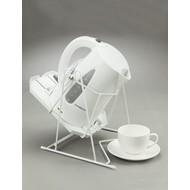 Système avec mouvement de balançoire pour cafetière ou théière