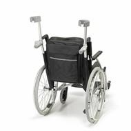 Opbergtas voor achteraan de rolstoel met wandelstokzakjes