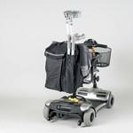 Opbergtas voor achteraan de scooter of rolstoel met wandelstokzakje
