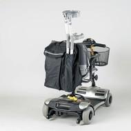 Sac pour l'arrière d'un scooter avec pochette pour la canne de marche