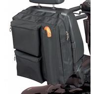 Opbergtas voor achteraan de scooter met wandelstokzakje