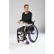 So Yes! Jupe fauteuil roulant dames gris avec fermeture à glissière