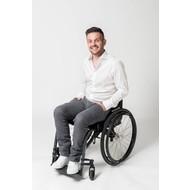 So Yes! Pantalon de fauteuil roulant homme gris jeans