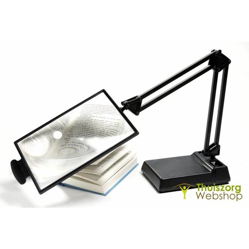 Magnifying glass in plastic on a stand