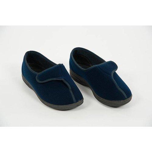 Lage pantoffel met velcrosluiting