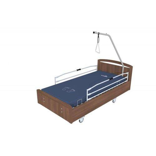 """Elektrisch bed """"box"""" op 4 wielen en zijsteunen"""