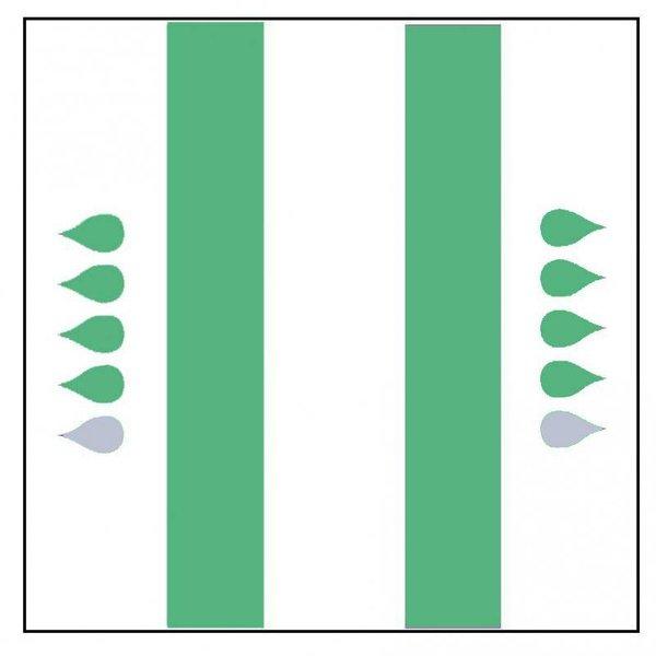 """Form """"Super"""" groen 4 x 20 stuks"""