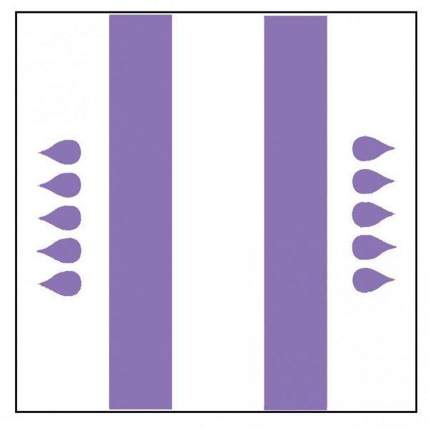 """Form """"Maxi"""" violet 4 x 20 pièces"""