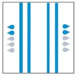 Slip 'Normal' - bleu 4 x 20 pièces